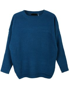 This round neck dolman sleeve knit pullover sweater is a must for this season! Made of a cozy knit material to keep you warm while still giving you a trendy look. Feature - 60% Viscose / 40% Cotton -