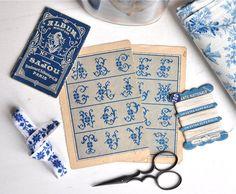 vintage french cross stitch alphabet by petitsdetails on Etsy