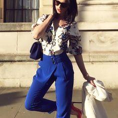 All Zara everything 🙈 #london #spring #fashion #streetstyle #royalblue #zara #pumps #londonstreetstyle #iphonepic #chic #colors #lfw #elegant #girl #chasinglifeinheels