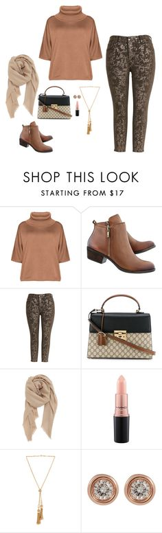 """""""Simple Curvy Look"""" by humblechick1 ❤ liked on Polyvore featuring Isolde Roth, Melissa McCarthy Seven7, Gucci, BP., MAC Cosmetics, Chloé, Ron Hami, casual, plussize and curves"""