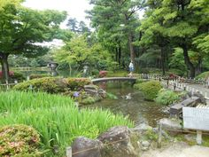 """The Kenroku-en Garden's name literally translates to """"garden with six characteristics,"""" and it is one of only three gardens in Japan to boast them all — spaciousness, seclusion, air of antiquity, ingenuity, flowing water, and panoramic views. (More info here: http://us.dk.com/static/cs/us/11/features/beautifulblooms/)"""