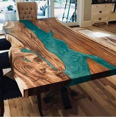 Amazing epoxy resin table types and how to make it step by step, stylish designs. - Table designs - Amazing epoxy resin table types and how to make it step by step, stylish designs of the epoxy table - Epoxy Table Top, Epoxy Wood Table, Ocean Design, Diy Table, Dining Table, Table Tag, Diy Resin Table, Diy Tisch, Wood Table Design