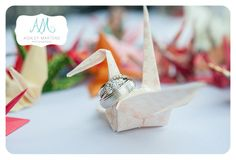Origami Wedding   ashleymartensphotography.com Wedding Wows, Origami Wedding, Make Your Mark, Wedding Season, Wedding Planning, Place Card Holders, Seasons, How To Plan, Bridal