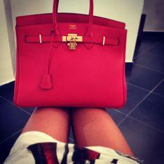 red hermes bags
