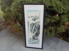 Asian Water Color Scroll Lithograph  Not by Daysgonebytreasures