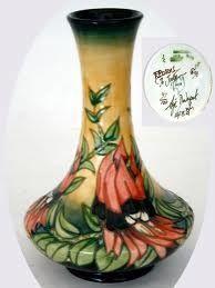 Moorcroft Sturt Desert Pea vase