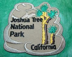 Joshua tree national park embroidered patch california travel souvenir(46) National Park Patches, National Parks, Travel Souvenirs, Embroidered Patch, California Travel, Badges, State Parks, Scrapbooking, America
