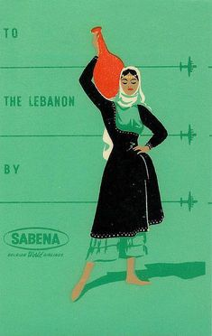 vintage poster LEBANON , SABENA   http://travellingcollectionsgabriella.blogspot.com