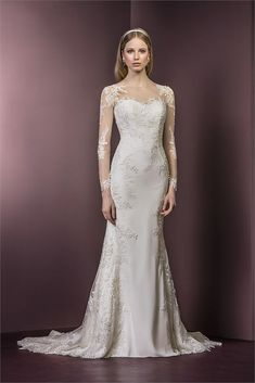 Classic lace wedding dress from Ellis Bridals. Style - 11482
