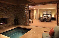 Beautiful master bedroom with indoor jacuzzi.