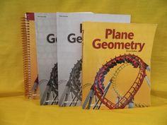 ABeka Plane Geometry Student,  Solution Key & Test , LN School or Homeschool #TextbookBundleKit