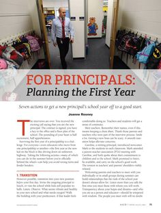 Educational Leadership - June 2013 - Page 73 Planning the First Year (Principals)