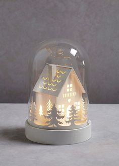 House Globe LED Christmas Ornament x View 1 Christmas Paper Crafts, Christmas Tree Themes, Diy Christmas Ornaments, Christmas Art, Christmas Holidays, Licht Box, The Bell Jar, Christmas Templates, Wrapping Ideas