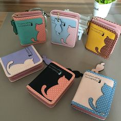 2015 Hottest Women Short Design Cat Purse Cute Ladies Wallet Bags PU Leather Handbags Card Holder Free Shipping-in Wallets from Luggage & Bags on Aliexpress.com | Alibaba Group
