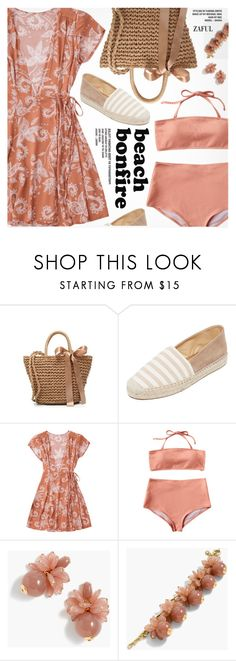 """Summer Nights: Beach Bonfire"" by pokadoll ❤ liked on Polyvore featuring Matt Bernson and J.Crew"