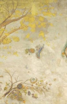 stilllifequickheart:  Odilon Redon Branch of Yellow Flowers 1901