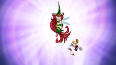 """Betilla the Fairy is one of the many sexualized damsel in distress """"Nymphs"""" in the game Rayman Origins who you must rescue - each time you save one of them they grant you a new power. She also appears in earlier Raman games. #sexualization #sexism #damselindistress"""
