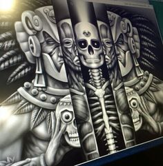 """""""The first step toward change is awareness. The second step is acceptance. Aztec Tattoo Designs, Tattoo Patterns, Arte Lowrider, Badass Drawings, Mexican Art Tattoos, Prison Art, Aztec Culture, Minions, Aztec Warrior"""