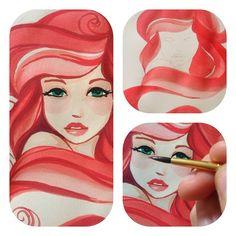 Ariel progress by ~Shimakotodo on deviantART