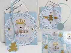Novos convites de Chá de bebê ou Chá de fraldas! Com adesivo personalizado com o nome do bebê ou personalizado em scrap e materiais como p...