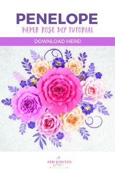 Making Paper Flowers is Easy with these DIY Rose Flower Templates