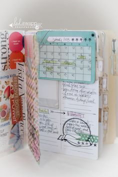 Inspiration: Vision Journal by Lindsay Bateman using Heidi Swapp Mini Memory Files ~ Yet another form of journaling. Instead of a vision board, why not a vision journal? The blog posts describes, in some detail, the steps the woman took to create a journal that is inspiring in every way.