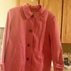 Casual Pink Talbots Jackets & Coats