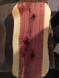 Cribbage board made from recycled cedar from Heber,Arizona. Cribbage Board, Cribs, Arizona, Recycling, Boards, Cots, Planks, Bassinet, Baby Crib