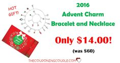 AWESOME DEAL FOR TEENAGERS or WOMEN! Great gift idea for coworkers, neighbors and more! 2016 ADVENT CALENDAR CHARM BRACELET and NECKLACE for only $14 (was $60!)! Free store pickup too!  Click the link below to get all of the details ► http://www.thecouponingcouple.com/advent-calendar-charm-bracelet/ #Coupons #Couponing #CouponCommunity  Visit us at http://www.thecouponingcouple.com for more great posts!