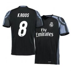 Real Madrid C.F 16-17 Season Third Black #8 Kroos Soccer Jersey [H418]