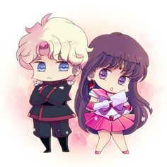 Sailor Mars and Jedeite chibi