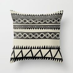 Throw Pillow featuring MALOU ZEBRA by Aztec