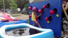 Canadian Dad Builds Homemade 'Wipeout' Obstacle Course for Kids - ABC News