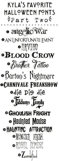 Funky Polkadot Giraffe: Kyla's Favorite Free Halloween Fonts: {Part Two} by Briann