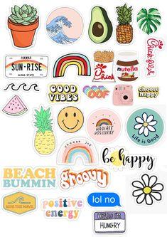Preppy Stickers, Cute Laptop Stickers, Kawaii Stickers, Cool Stickers, Printable Stickers, Phone Stickers, Journal Stickers, Scrapbook Stickers, Scrapbook Paper