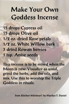 Make Your Own Goddess Incense