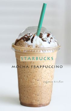 Forget about heading to Starbucks for coffee fix and make your own mocha Frappuccino at home!