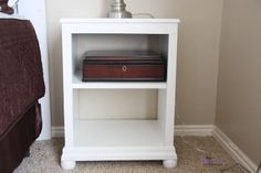 Ana White | Build a Katie Nightstand Open Shelf | Free and Easy DIY Project and Furniture Plans