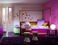 mommo design | Roomes for Teen Girls: DD's room (guest room already has that purple carpet)