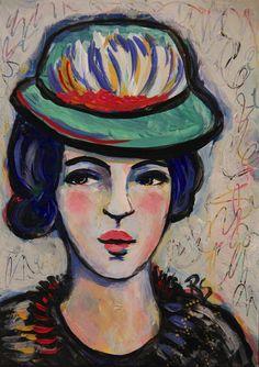Jacqueline - Original Portrait Painting by Roberta Schmidt -  ArtcyLucy on Etsy - SOLD