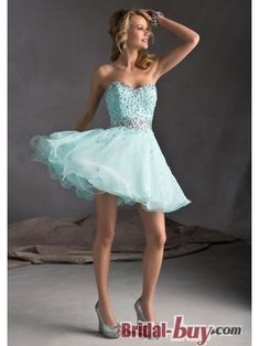 Lovely Princess Sweetheart Rhinetones Short Chiffon Homecoming Dress HD-9252