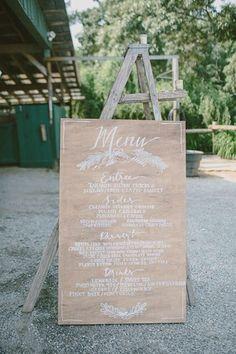 by MonsieurPlusMadame - présentez votre menu de mariage sur un escabeau