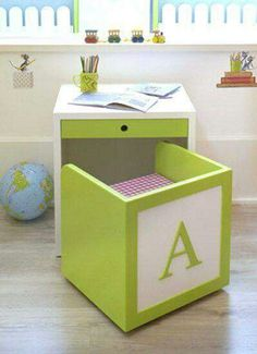 kid desk and chair for kid room or playroom Diy Casa, Kid Desk, Space Saving Furniture, Girl Room, Child's Room, Diy For Kids, Kids Bedroom, Bedroom Toys, Childrens Bedroom