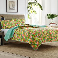 #TommyBahama #Flamingo Road Quilt Set. #floral #colorful #tropical #beachy