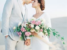 We loved being apart of this gorgeous styled wedding shoot! Mallory Dawn always captures the most romantic wedding photos. The neutral background of the sand dunes were absolutely perfect with the sunset and how it hit the couple just right. Romantic Wedding Flowers, Floral Wedding, Wedding Colors, Ivory Wedding, Elope Wedding, Wedding Gowns, Mint, Fine Art Wedding Photography, Wedding Portraits