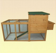 75 Wooden Farm Animal Chicken Coop Small Animal Cage
