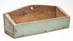 """SHENANDOAH VALLEY OF VIRGINIA PAINTED YELLOW PINE WALL CANDLE BOX, First half 19th century. 6"""" H, 15 3/4"""" W, 5 1/4"""" D."""
