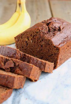 Whole Wheat Reduced-Fat Chocolate Banana Bread