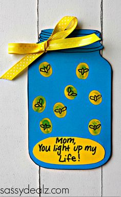 "Firefly ""You Light up my Life"" Mother's Day Card (Free Printable) - Crafty Morning"