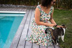 Couture : Ma robe d'été Myosotis x Lucie - Avril sur un fil